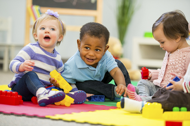 toddlers in a child care program
