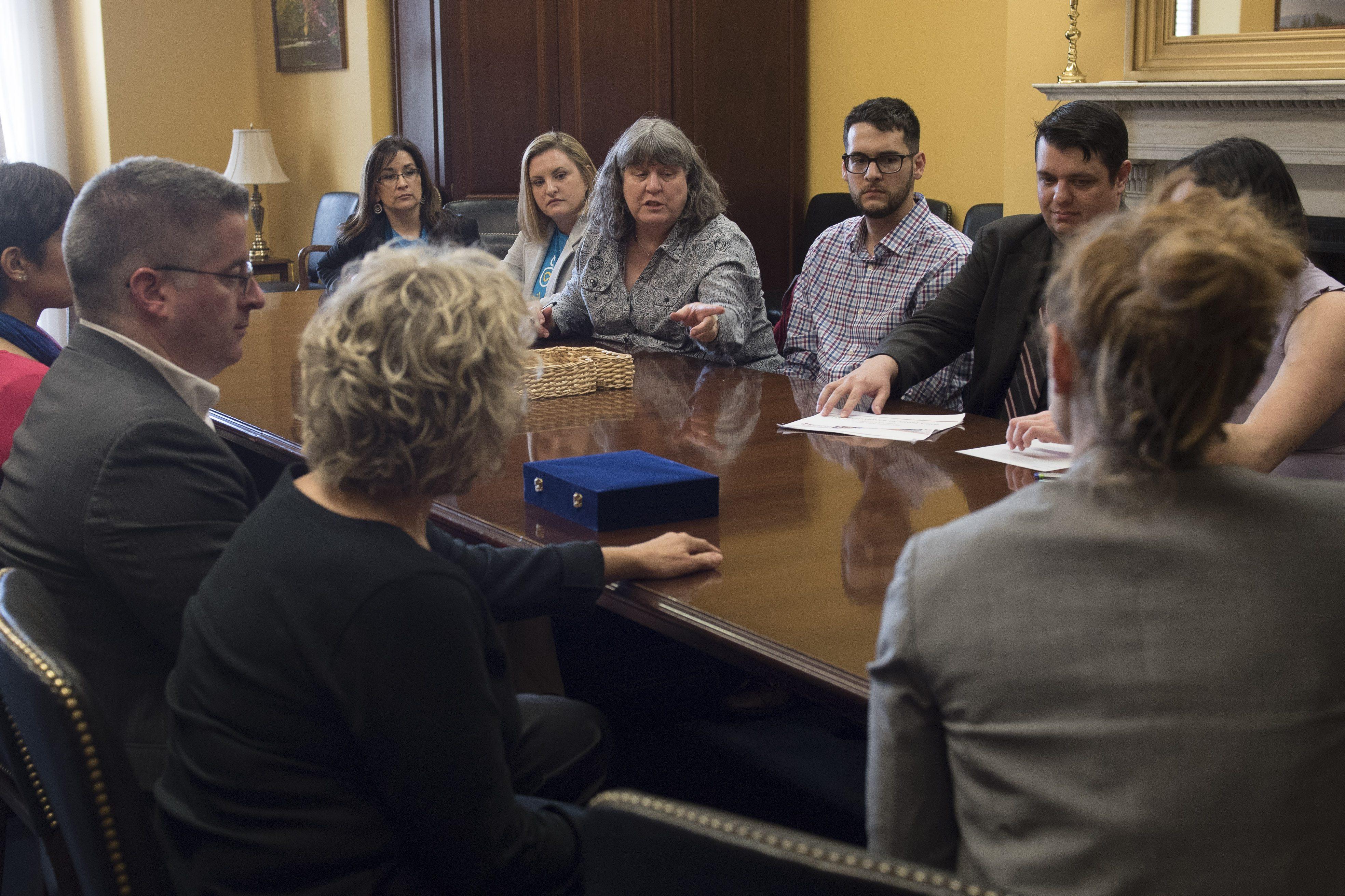 advocates meeting a legislator