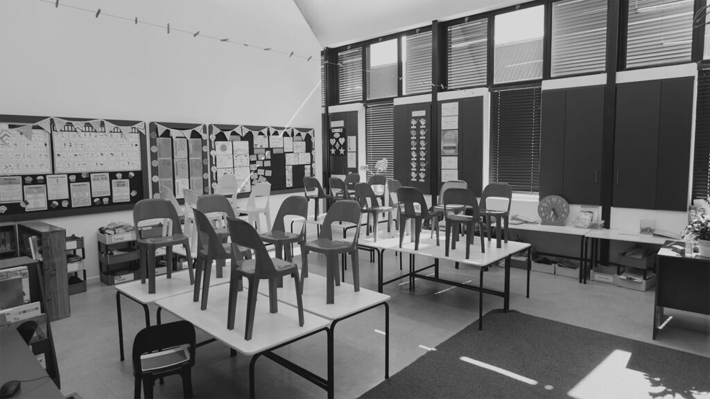 Empty classroom during COVID-19