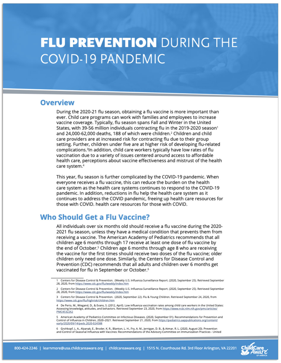 Flu Prevention During the COVID-19 Pandemic