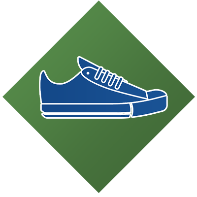 physical activity shoe icon