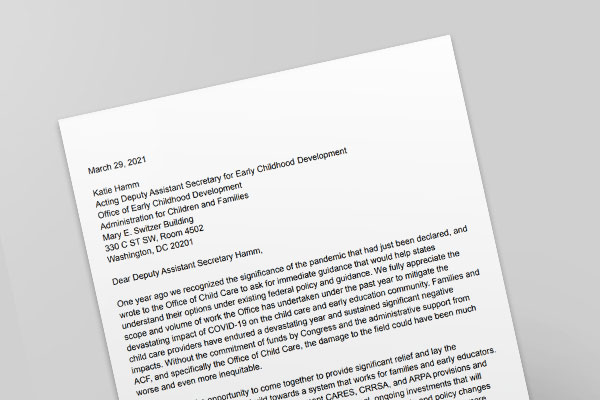 Coalition letter about the ARP Act